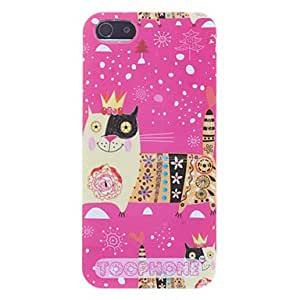 Smilling Cartoon Lion Pattern Hard Case for iPhone 5/5S