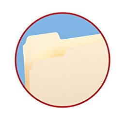 Smead File Folder,  1/5-Cut Tab, Letter Size,  Manila, 100 Per Box (10350)