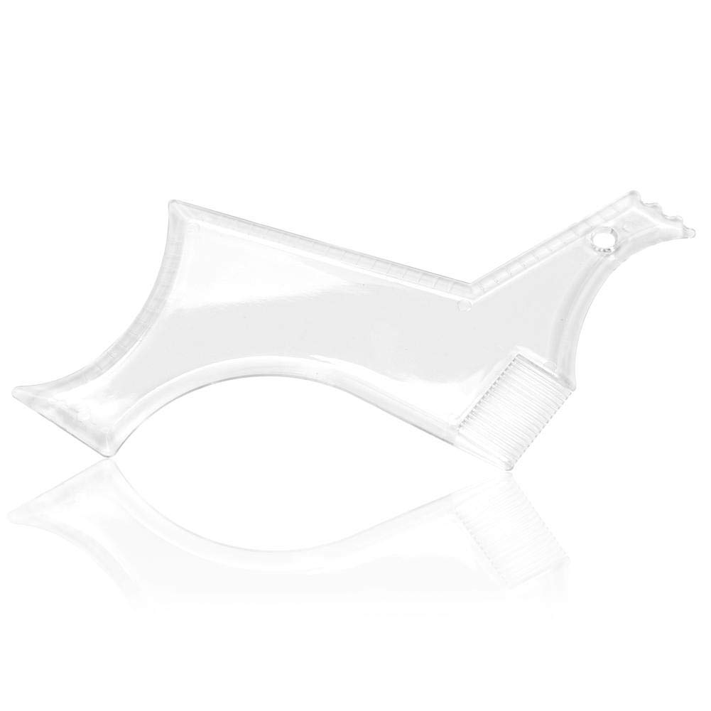 WXLAA Beard Shaping Tool - 2 Pack Clear Styling Shaper with Inbuilt Comb for Men Facial Hair Trimming Barber Shop Multi Gadget