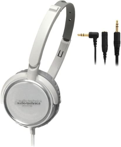 Audio Technica ATH-FC700A Portable Headphones with 40mm Neodymium Drivers, White
