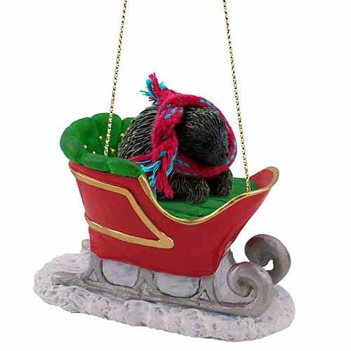 Porcupine Sleigh Ride Christmas Ornament - DELIGHTFUL! by Conversation Concepts