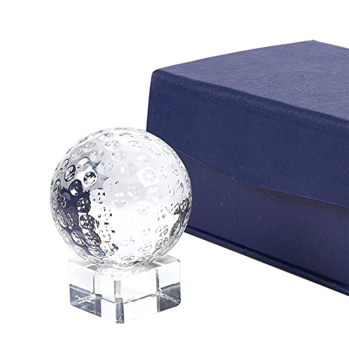 Juvale Golf Trophy - Sports Award Trophy Small Optical Crystal Golf Ball Trophy with Separable Base Stand, Includes Gift Box, 2 x 2.6 x 2 Inches
