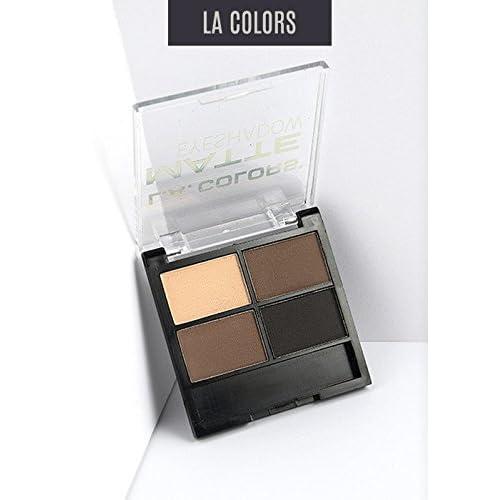 L.A.Colors Matte Eyeshadow - Matteriffic - 4 Colors Nude Tones - 0.17 Oz/4.8g