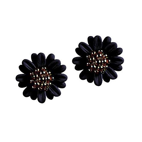 Hunputa New Fashion Women Lady Elegant Daisy Flower Cute Ear Stud Earrings - Stretch Ring Daisy