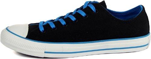 Converse - - Chuck Taylor All Star Two Tone Ox Schuhe in Schwarz / Blau Black/White/Blue