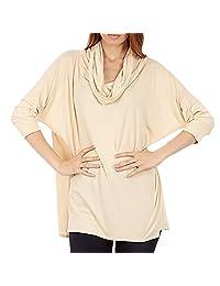 Dinamit's Women 3 Way Cowl Neck Poncho Sweater