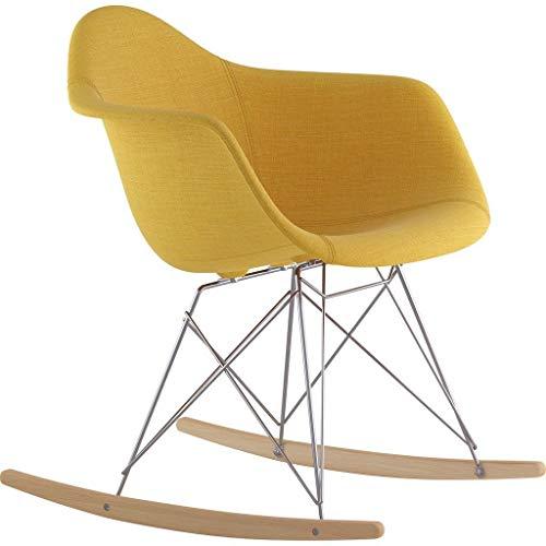 NyeKoncept 332003RO1 Mid Century Rocker Chair, Papaya Yellow from NyeKoncept