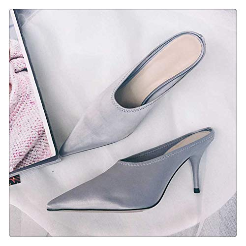 QQFLRB& 2018 Luxury Satin Gladiator Sandals Woman Pointed