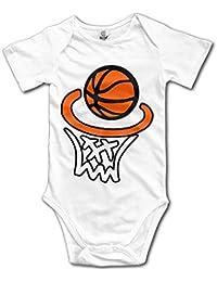 Happy Basketball Baby Bodysuit Short Sleeve Jumpsuit Rompers