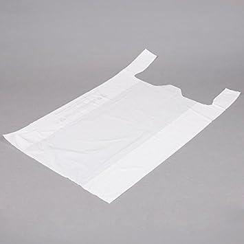 Pequeñas bolsas de plástico blanco 1500 hilos, 8 x 4 x 15 ...