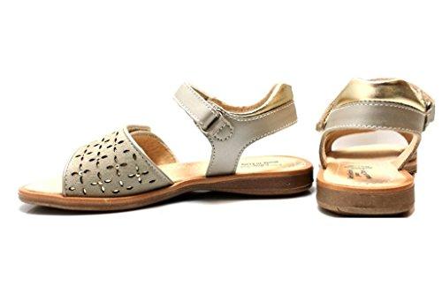Negro Giardini J P628580F Marfil Zapatos Sandalias Niña Cierre con Velcro 25-34 Marfil