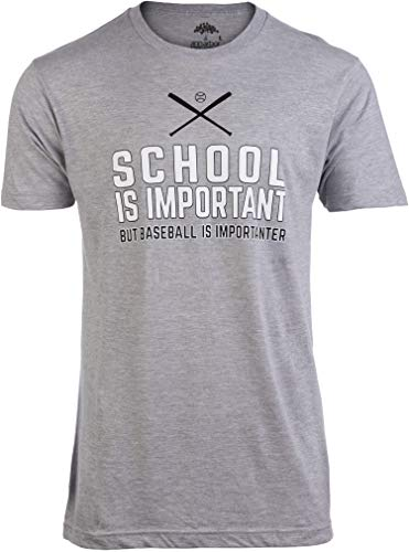 School is Important but Baseball is Importanter | Funny Sports Unisex T-Shirt-(Adult,2XL)