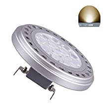 Led AR111 Bulb G53 Spotlight 15W 30°Beam View Angle Day Light 4000k-5000k SMD 15LEDs Imput DC12V Spot Reflector Lights 1200Lm 100w Halogen Bulb Replacement