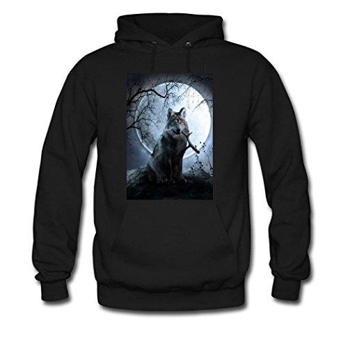 HKdiy HKdiy HKdiy Women's Hoodie Wolf Wolf Wolf Wolf Custom Black Classic gqOZg
