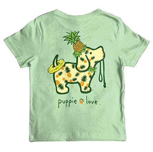 Puppie Love Pineapple Pup Youth Short Sleeve T-Shirt-Large