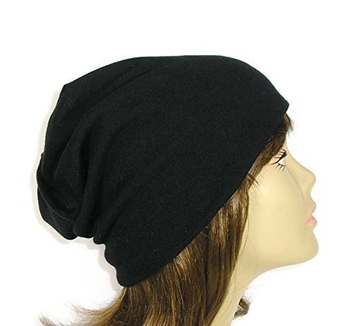Custom Size Hats 100% Cotton Black Chemo Caps Hats for Hair Loss Chef's Hat Mens Slouchy Beanies Reversible Slouchy Beanies Cotton Lined Slouch Hats Unisex Slouchy Beanies Food Services -