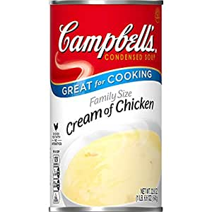 Campbell's Condensed Family Size Cream of Chicken Soup, 22.6 oz. Can