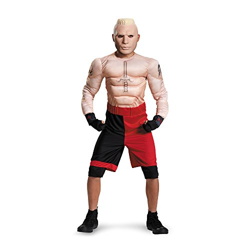 [Brock Lesnar Classic Muscle WWE Costume, Medium/7-8] (Kids Wwe Costumes)