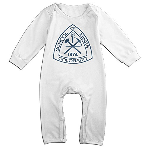 HOHOE NewBorn Boy's & Girl's Colorado School Of Mines Long Sleeve Baby Climbing Clothes White 18 Months