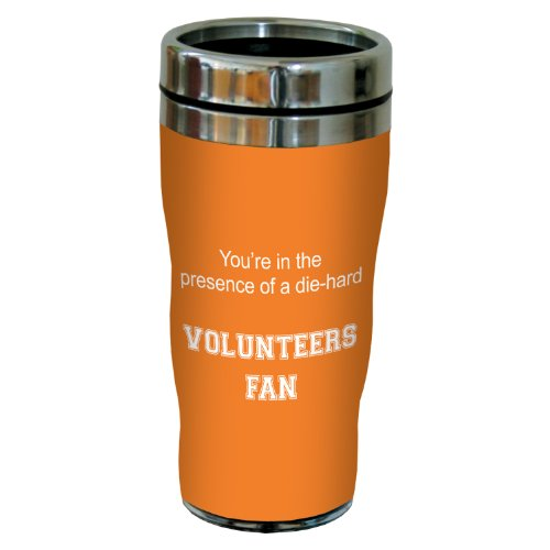 (Tree-Free Greetings sg24574 Volunteers College Football Fan Sip 'N Go Stainless Steel Lined Travel Tumbler, 16-Ounce)