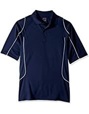 Ashe City Men's ACTY-85107-Snag Protection Colorblock Polo with Piping