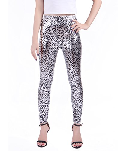 HDE Leggings Digital Metallic Stretch