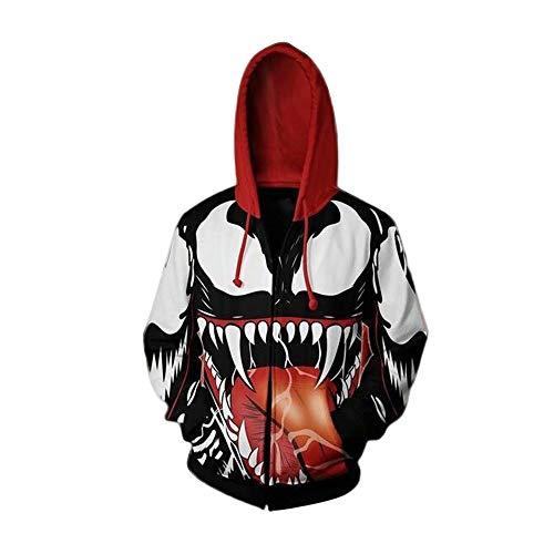 (Spider Venom Printed Hoodies Cosplay Jacket for Men)