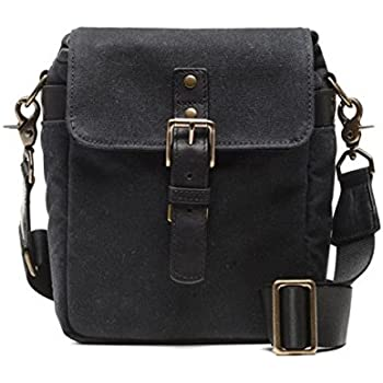 593c0f21a27 ONA - The Bond Street - Camera Messenger Bag - Black Waxed Canvas  (ONA5-064BL)