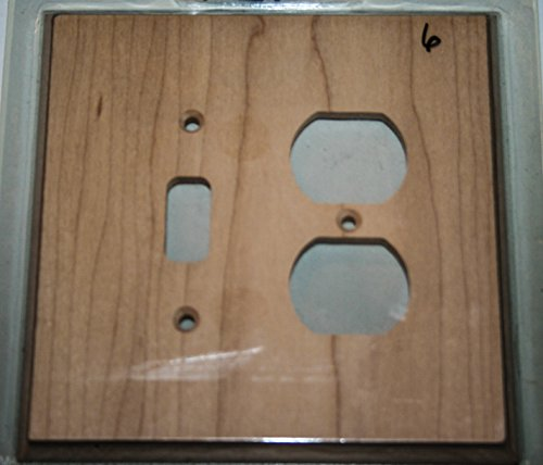 Unfinished maple single toggle/duplex wall plate cover remodel construction wood