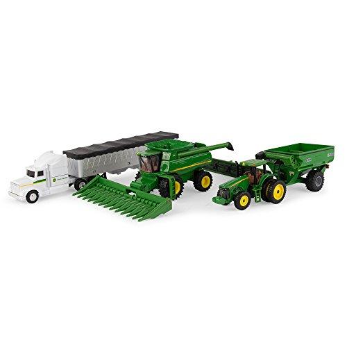 John Deere Harvester - Ertl John Deere Harvesting Set, 1:64 Scale