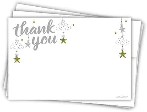 Star Baby Shower Thank You Cards (20 Count)