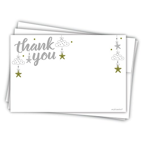 Star Baby Shower Thank You Cards (20