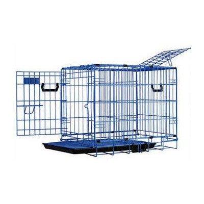 Dreamcrate Professional Mesh Floors - Pet Tek DPK86022 Dream Crate Professional Series 200 Dog Crate with Mesh Floor, 24 by 18 by 20-Inch, Blue