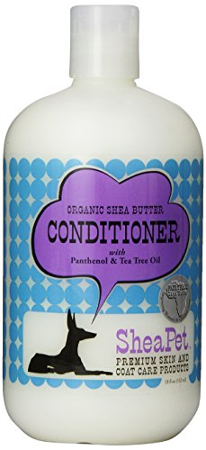 Conditioner Dog Peppermint (EARTHBATH 026503 Shea Butter Cond withTea Tree Oil and Panthenol conditioner for Dogs, 18-Ounce)