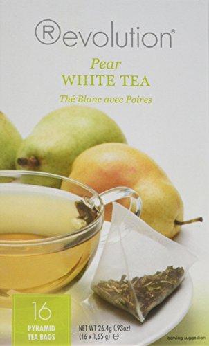 Ceylon Tea White (Revolution Tea Pear White Tea, 16 Count)