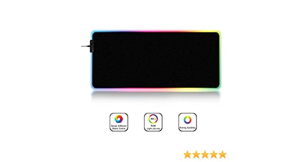 Non-Slip Rubber Base Computer Keyboard Pad Mat Portable Extended Mouse Mat Xzz RGB Gaming Mouse Pad with Luminescent Fiber