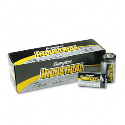 Energizer D Cell Industrial Strength Alkaline Battery, 2500mAh - 12-Pa (Industrial Alkaline Batteries)