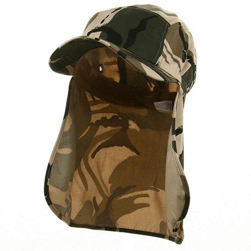 Flap Hats (03)-Safari OSFM (Flap E4hats Hat Cotton)
