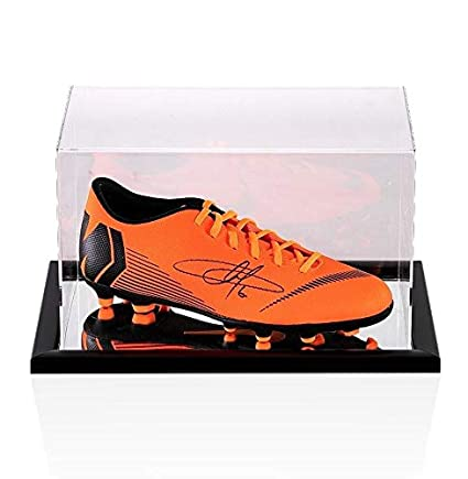 Image Unavailable. Image not available for. Color  Eden Hazard Signed  Football Boot - Orange Nike Mercurial - In Acrylic Display ... 0a6055122c0