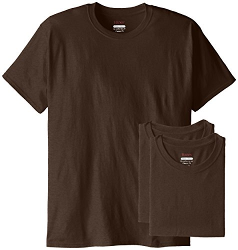 - Hanes Men's ComfortBlend Short Sleeve T-Shirt, Dark Chocolate Heather, X-Large (Pack of 3)