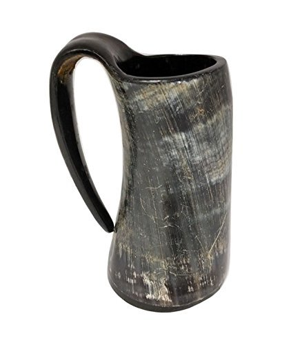 US Exporter 16oz Handcrafted Large Viking Cup Drinking Horn Tankard