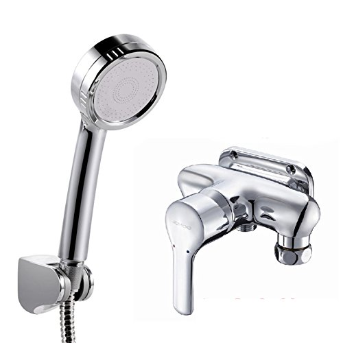 - Bathroom copper wall mounted exposed pipe taps/Wall mounted hot and cold faucet/Shower mixing valve-A