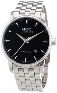 MIDO Baroncelli Ii 38mm M86004181 - Reloj de caballero automático, correa de acero inoxidable color plata