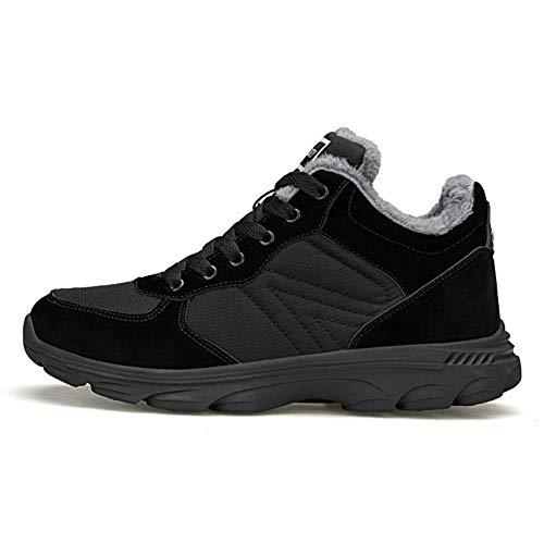 Homme Confortable Noir Femme Neige Bottes Chaudes Randonnée Chaussures Hiver Imperméable De 46eu 36 ZxaO78tw