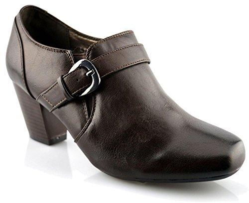 Boulevard Dames Kunstleer Loafers Schoenen 9 Bruin