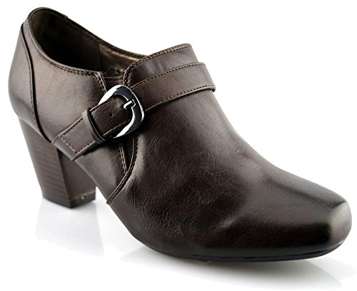 Boulevard Womens Mocassins En Cuir Synthétique Chaussures Marron
