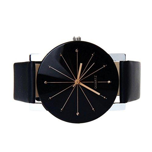 Perman Men's Analog Quartz Black PU Leather Watch by Perman (Image #2)