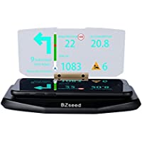 BZseed Head Up Display, Car HUD Phone GPS Navigation Image Reflector, Cell phone Holder Mount, Universal Smart Mobile Cell phone Holder Mount - Black
