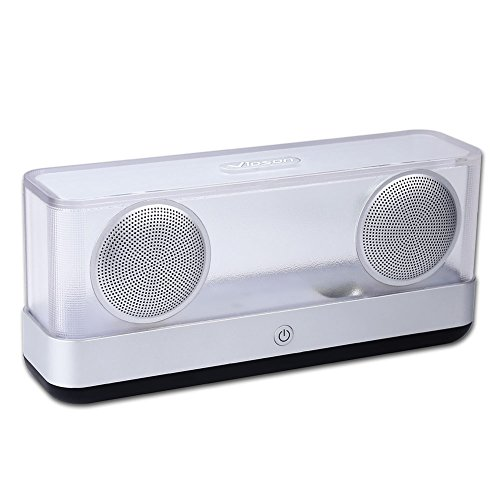 Wireless Bluetooth Speaker, 20W Driver Portable Speakers Super Bass Bluetooth Speaker, Bluetooth 4.2, 10 Hours Playtime, 3.5mm AUX-in, TF Card, APP Control Smart Light
