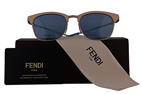 Fendi Authentic Sunglasses FF0228/S Beige w/Blue Lens SCBKU FF 0228/S F0228/S FF0228S F0228S (50mm)